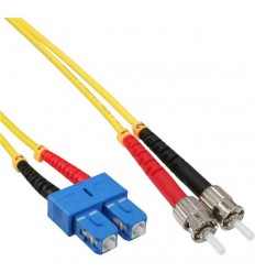 Plenum SC-ST OS1 Duplex Singlemode 9/125 Fiber Optic Cable 300m