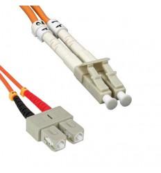 Plenum LC-SC OM1 Duplex Multimode 62.5/125 Fiber Optic Cable 1m