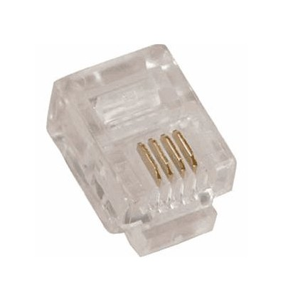 RJ11 Crimp Plug for Solid Wire