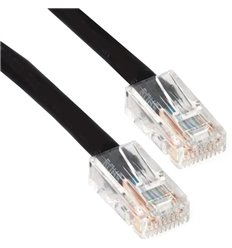 0.5Ft Cat5e Plenum Ethernet Cable Black