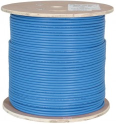 500FT Cat6 Plenum Shielded Bulk Cable Blue