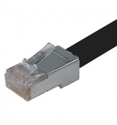 300Ft Cat6 Direct Burial Shielded Gell-type Cable Black