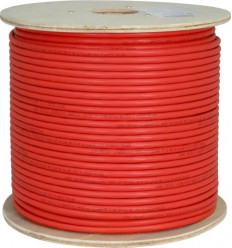 1000Ft Cat6 Solid STP Copper Bulk Cable Red