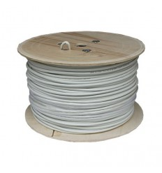 500Ft Cat6a Solid STP Copper Bulk Cable White