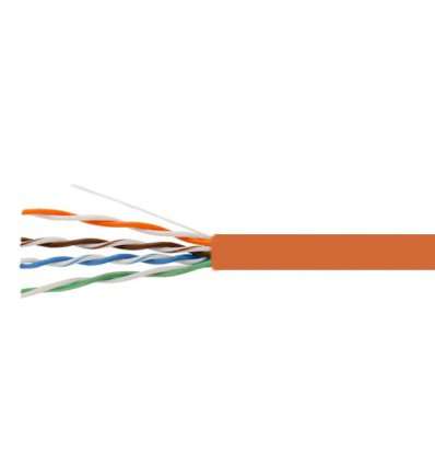 1000Ft Cat6 Stranded UTP Copper Bulk Cable Orange