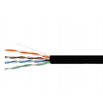 1000Ft Cat6 Stranded UTP Copper Bulk Cable Black