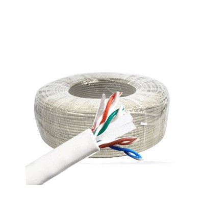 100Ft Cat6 Stranded UTP Copper Bulk Cable White