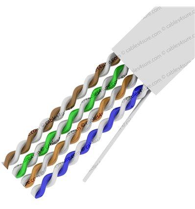 1000Ft Cat5e Bulk Stranded UTP Copper Cable - White