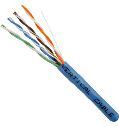 Blue 200Ft Cat5e Bulk CMR UTP Copper Cable