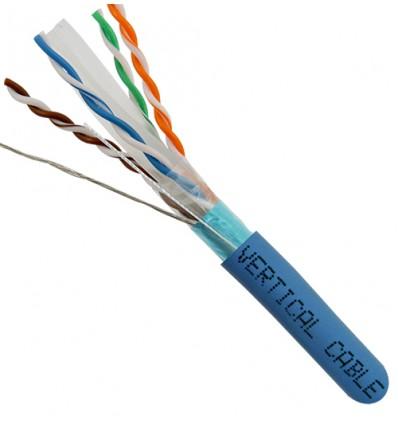 50Ft Cat6 Shielded Bulk Copper Cable CMR Blue