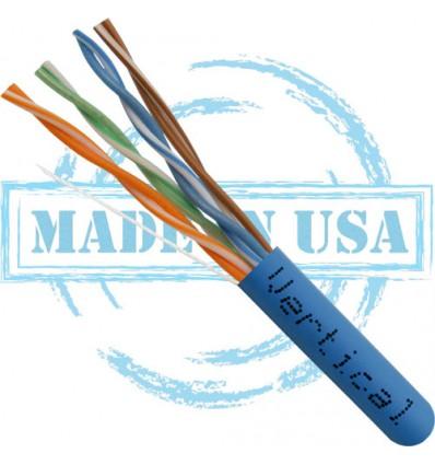 50Ft Cat6 Plenum Bulk Cable Blue