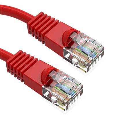 25Ft Cat5e Ethernet Copper Cable Red
