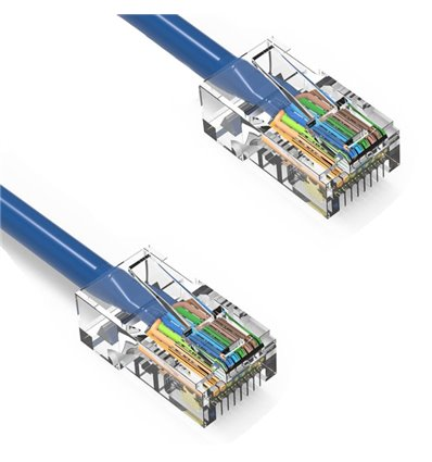 25Ft Cat5e Ethernet Non-booted Cable Blue