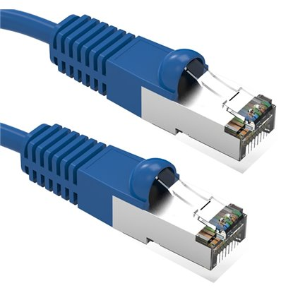 2Ft Cat5e Ethernet Shielded Cable Blue