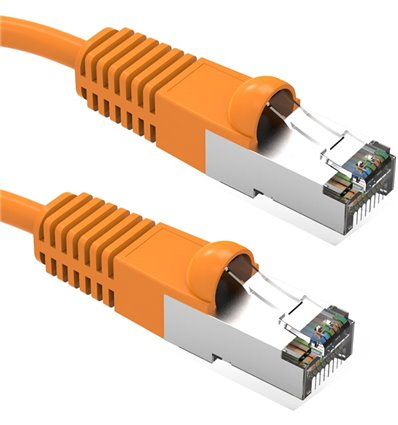 2Ft Cat5e Ethernet Shielded Cable Orange