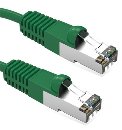 7Ft Cat5e Ethernet Shielded Cable Green