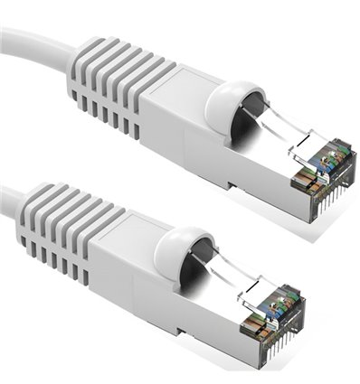 10Ft Cat5e Ethernet Shielded Cable White