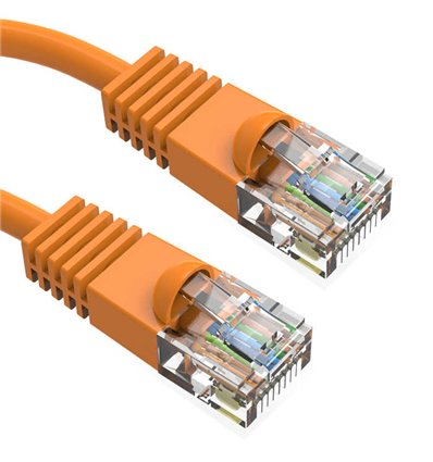0.5Ft Cat6 Ethernet Copper Cable Orange