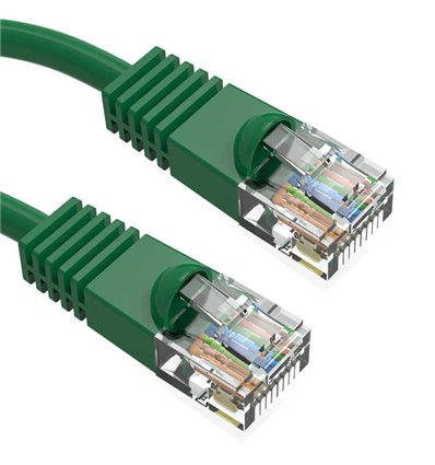 25Ft Cat6 Ethernet Copper Cable Green