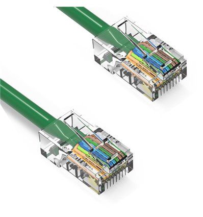 1Ft Cat6 Ethernet Non-booted Cable Green
