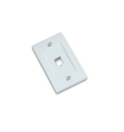 1port Keystone Wallplate White