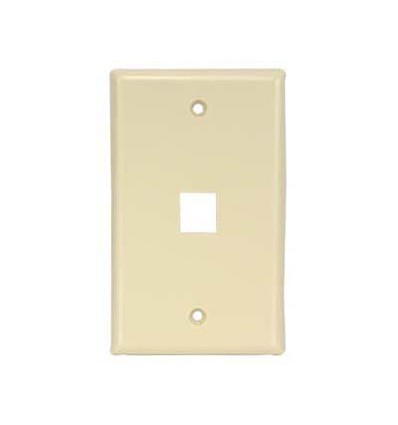 1port Keystone Wallplate Ivory