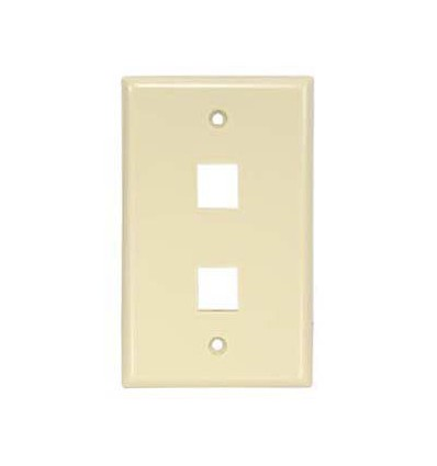 2port Keystone Wallplate Ivory