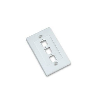 3port Keystone Wallplate White