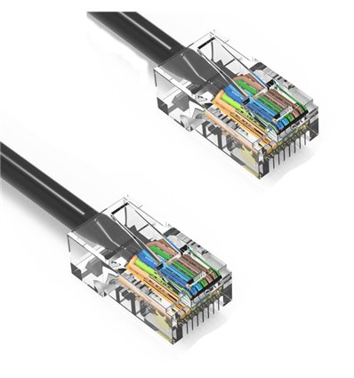250Ft Cat6 Ethernet Non-booted Cable Black