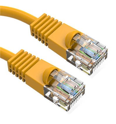 0.5Ft Cat6 Ethernet Shielded Cable Yellow
