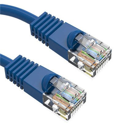 1Ft Cat6 Ethernet Shielded Cable Blue