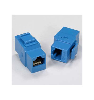 Cat5e Inline Coupler w Keystone Latch Blue