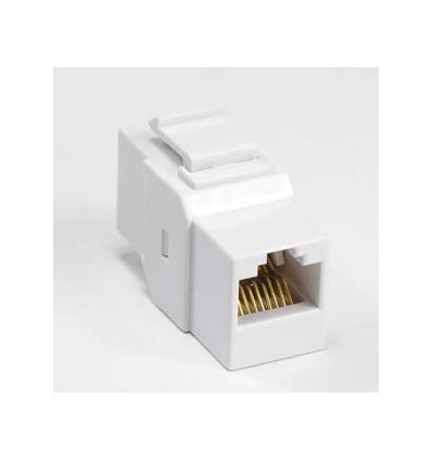 Cat6 Inline Coupler w Keystone Latch White