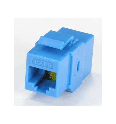 Cat6 Inline Coupler w Keystone Latch Blue