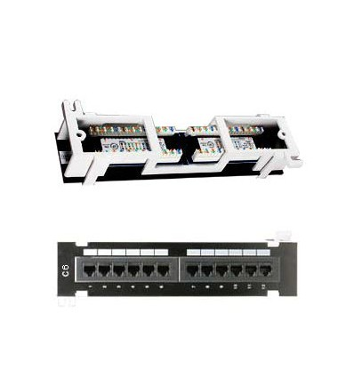 Cat6 110 Type Patch Panel 12Port Vertical w/Bracket