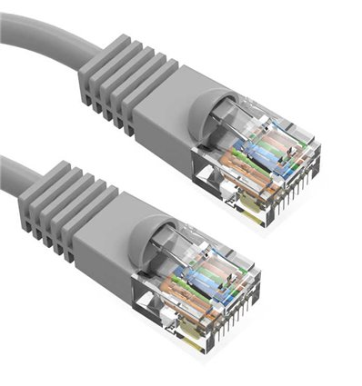 25Ft Cat6 Ethernet Shielded Cable Grey