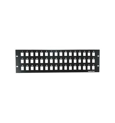 "4U 19"" 48port Blank Panel for Keystone Jack"