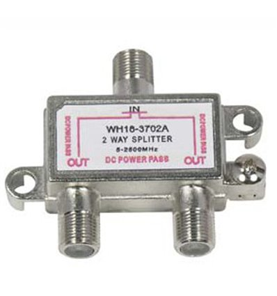 2Way 2.5GHz Satellite Splitter DC Power Pass