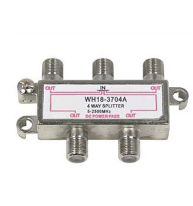 4Way 2.5GHz Satellite Splitter DC Power Pass