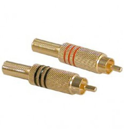 RCA Plug Metal Gold Plated
