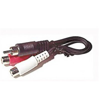 RCA 1-male to 2-female Y-adapter 6""