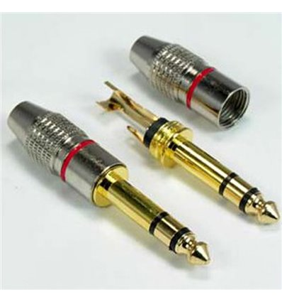 Quarter inch Stereo Metal Plug Gold Plated