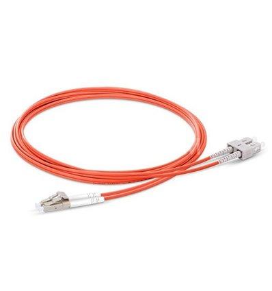 LC-SC Fiber Optic Plenum Multimode Cable Duplex OM1 62.5/125 OFNP