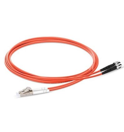 LC-ST Fiber Optic Plenum Multimode Cable Duplex OM1 62.5/125 OFNP