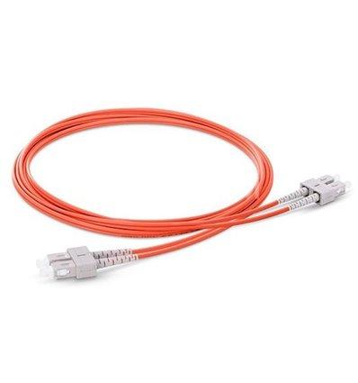 SC-SC Fiber Optic Plenum Multimode Cable Duplex OM1 62.5/125 OFNP