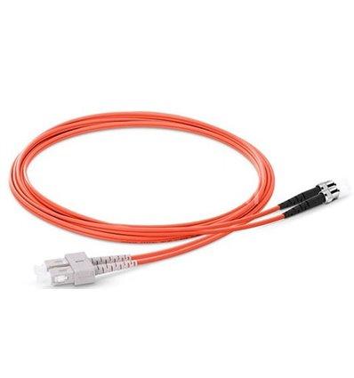 SC-ST Fiber Optic Plenum Multimode Cable Duplex OM1 62.5/125 OFNP