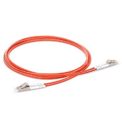 LC-LC Fiber Optic Plenum Multimode Cable Duplex OM2 50/125 OFNP