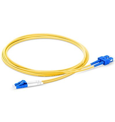 LC-SC Fiber Optic Plenum Single Mode Cable Duplex OS2 9/125 OFNP