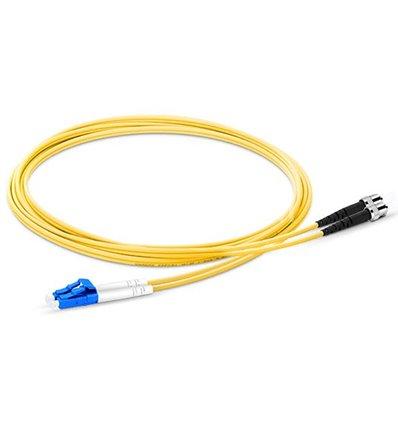 SC-SC Fiber Optic Plenum Single Mode Cable Duplex OS2 9/125 OFNP