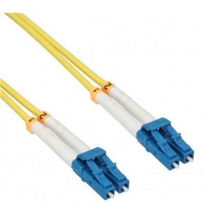 LC-LC Fiber Optic Single Mode Cable Duplex OS2 9/125 OFNR